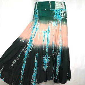 RAVIYA Tie Dye Flaired Festival Gypsy Skirt